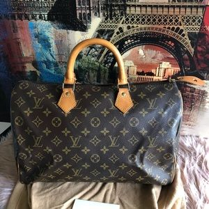 Authentic Louis Vuitton speedy 35 monogram canvas